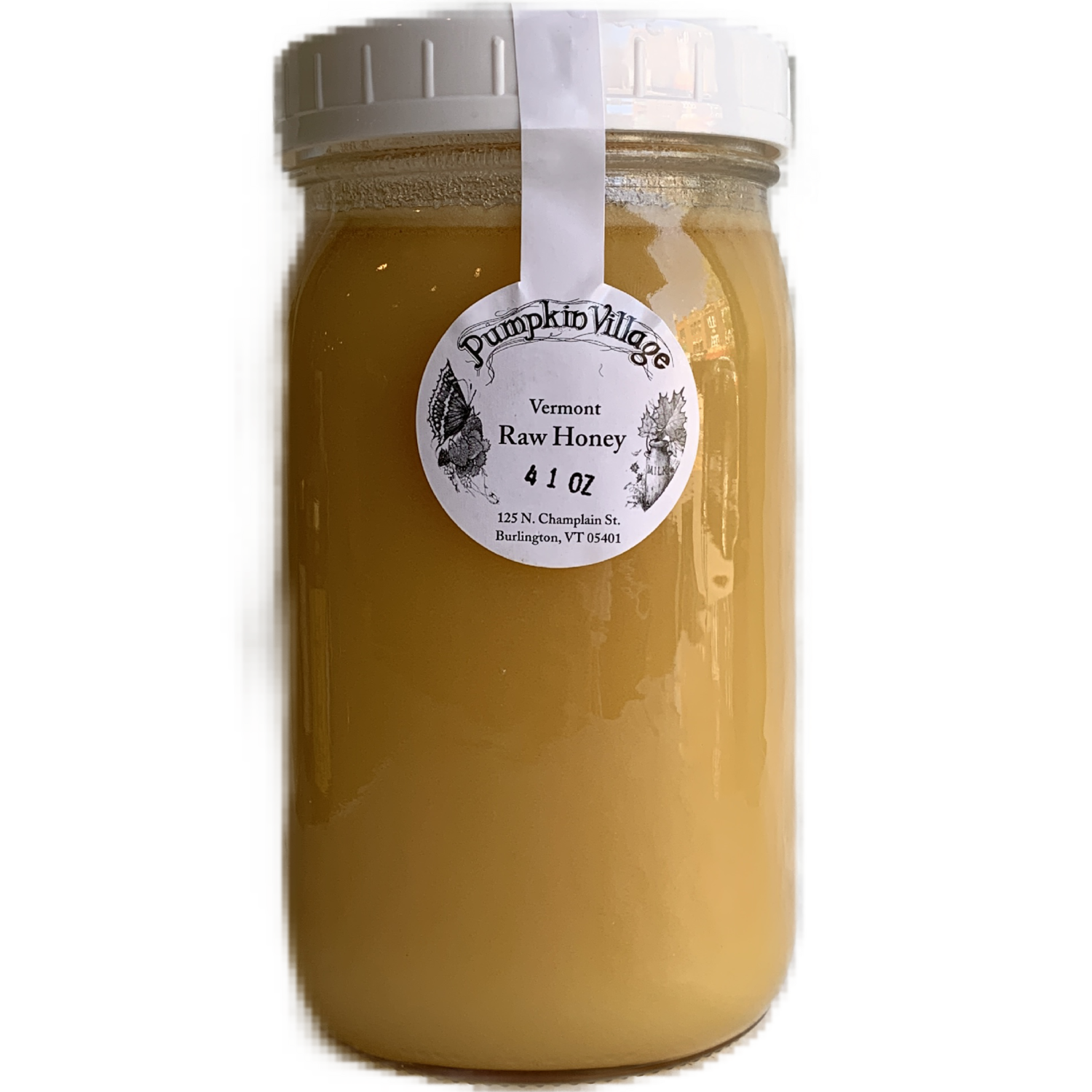 GIANT JAR 41oz Honey Pumpkin Village