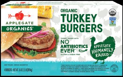 Frozen / Entree / Applegate Organic Turkey Burgers, 16 oz