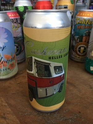 Beer / 16 oz  / Morgan Territory Cushman Helles, 16 oz.