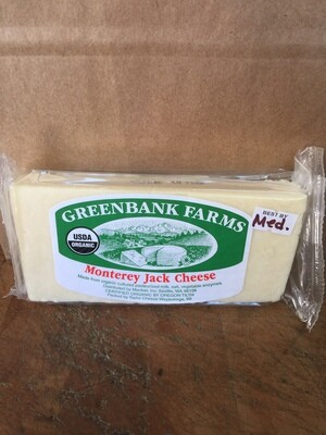 Deli / Cheese / Greenbank Organic Monterey Jack , medium (about .55lbs)