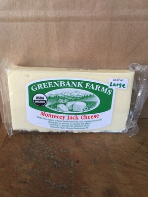 Deli / Cheese / Greenbank Organic Monterey Jack , Large  (about .63 lbs)