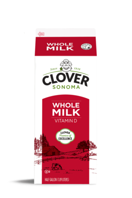 Dairy / Milk / Clover Whole Milk Half Gallon