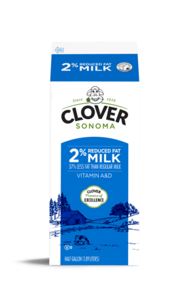 Dairy / Milk / Clover 2% Milk Half Gallon