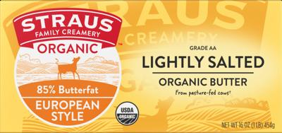 Dairy / Butter / Straus Organic Butter, 1 lb.