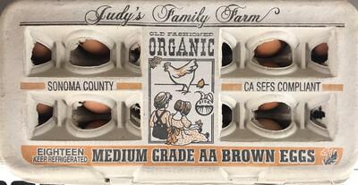 Dairy / Eggs / Judy's Organic Medium Eggs, 18 pk