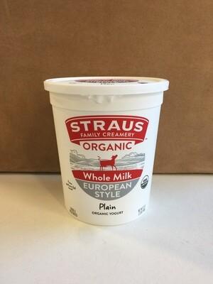 Dairy / Yogurt / Straus Organic Whole Yogurt 32 oz.