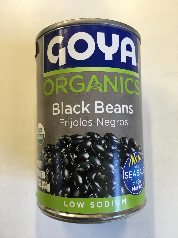 Grocery / Beans / Goya Organic Black Beans, 15.5 oz Can