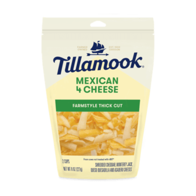 Deli / Cheese / Tillamook Shredded Mexican 4 Cheese, 8 oz.
