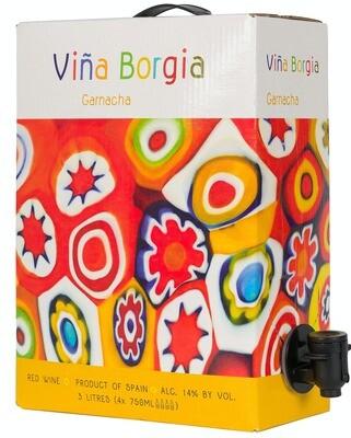 Wine / Red / Vina Borgia Garnacha 2017, 3 liter box