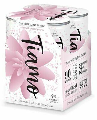 Wine / Rose / Tiamo Organic Dry Rose Spritz, 4pk 250ml cans