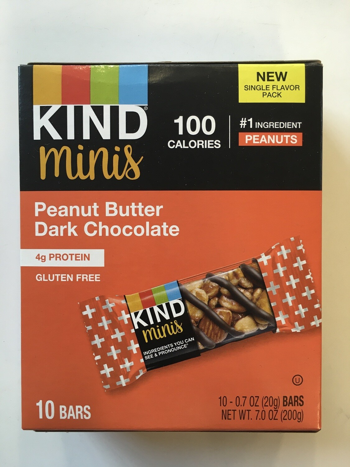 Snack / Bar / Kind Minis Peanut Butter Dark Chocolate, 10 pack