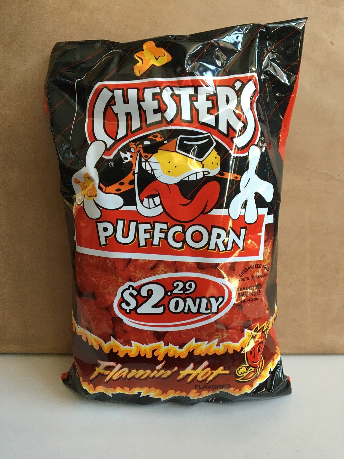 Snack / Popcorn / Chester's Flamin' Hot Puffcorn 4.25 oz.