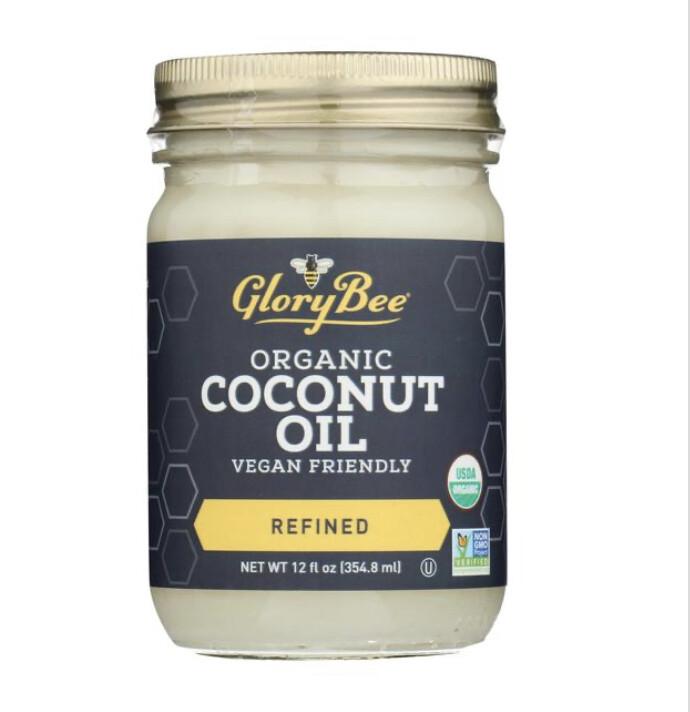 Grocery / Oil /  GloryBee Organic Coconut Oil, 12 oz.