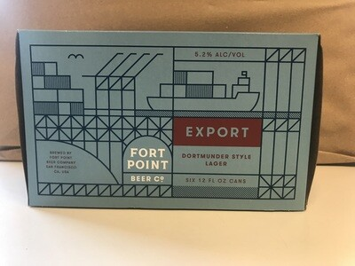 Beer / 6 Pack / Fort Point Export 6 pk