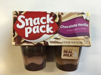 Grocery / Dessert / Snack Pack Pudding Chocolate Vanilla