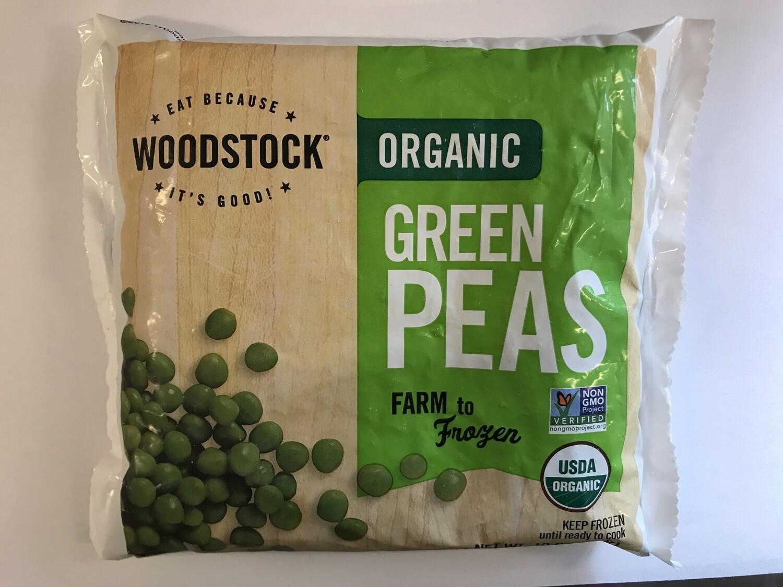 Frozen / Vegetables / Woodstock Frozen Peas, 10 oz