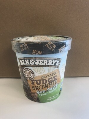 Frozen / Ice Cream Pint / Ben/Jerry's Non Dairy Chocolate Fudge Brownie pint