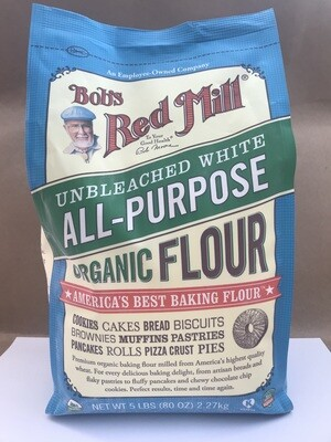 Grocery / Baking / Bob's Red Mill Unbleached  Organic White Flour 5 lb - LIMIT 1 per customer