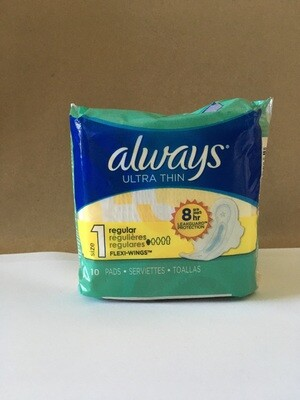 Health and Beauty / Feminine Products / Always Ultra Thin 10 ct