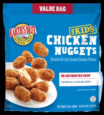 Frozen / Entree / Earth's Best Gluten Free Chicken Nuggets Value Bag, 16 oz