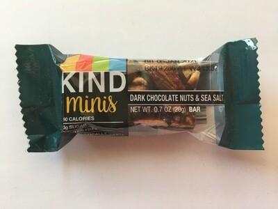 Snack / Bar / Kind Minis Dark Chocolate Nuts Sea Salt Single.