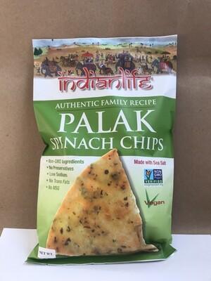 Chips / Big Bag / Indian Life Palak Spinach Chips, 6 oz.