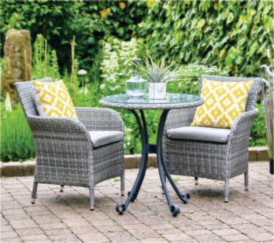 Monaco Stone 2 Seat Set (WE NOW ONLY HAVE OUR DISPLAY SETS AVAILABLE IN STORE PLEASE CONTACT EITHER PALMERS ENDERBY OR ULLESTHORPE TO SECURE YOUR PURCHASE)