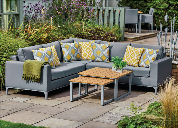 Siena Upholstered Modular Lounge Set with Nested Tables