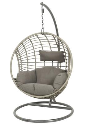 London Hanging Egg Chair - Grey