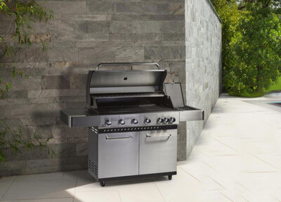 Supremo 2 Series BBQ Six Burner Plus Side Ring In Stainless Steel