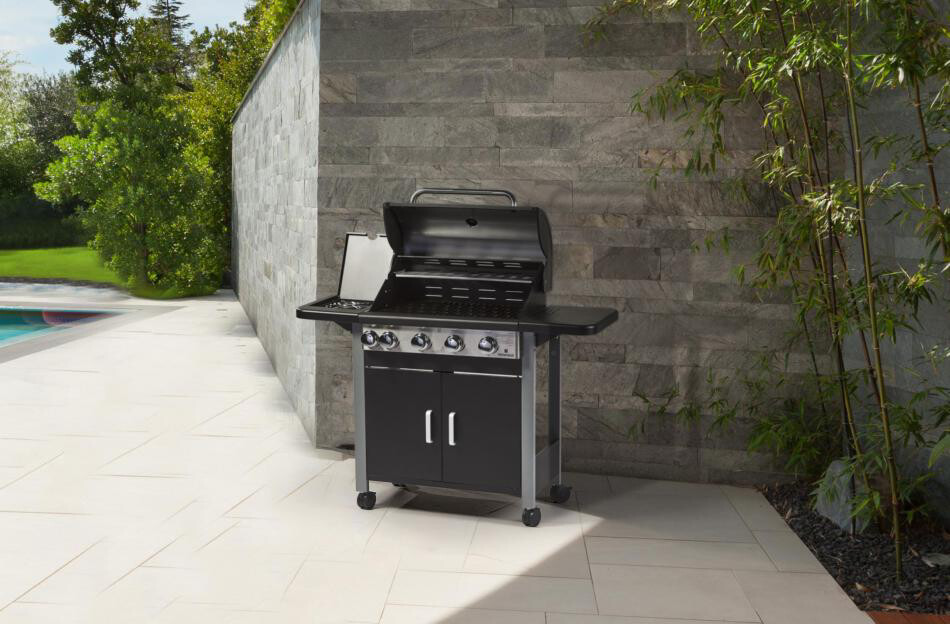 Supremo 1 Series BBQ Four Burner Plus Side Ring