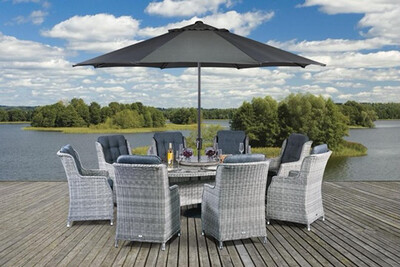 Lazia Eight Seat Oval Set (LIMITED STOCK AVAILABLE FROM LATE-JUNE)