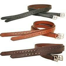 Tory Half Hole Lined Stirrup leathers