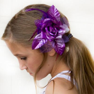 Dasha 2362 Metallic Flower Bow