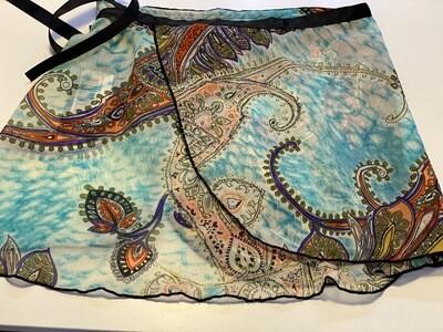 DAN 2606A Mod Paisley Skirt MED