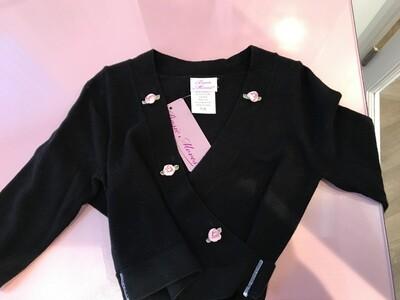 BM 4125 Wrap Sweater w/ Roses