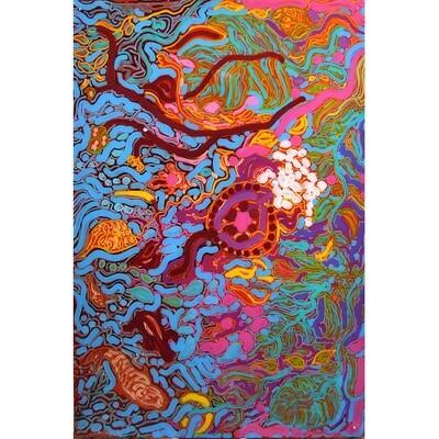 Dorothy Tjikilim Forrest TURTLE LAYING EGGS