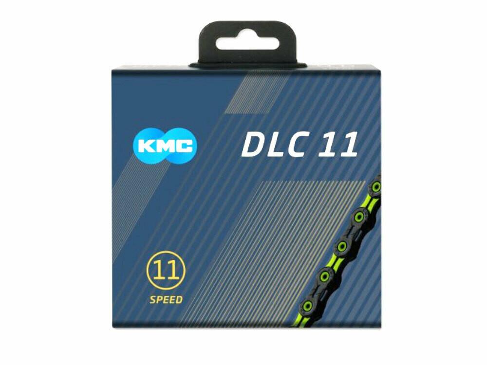Ketting KMC DLC 11 11V 11/128 Zwart/Groen 118 Sch