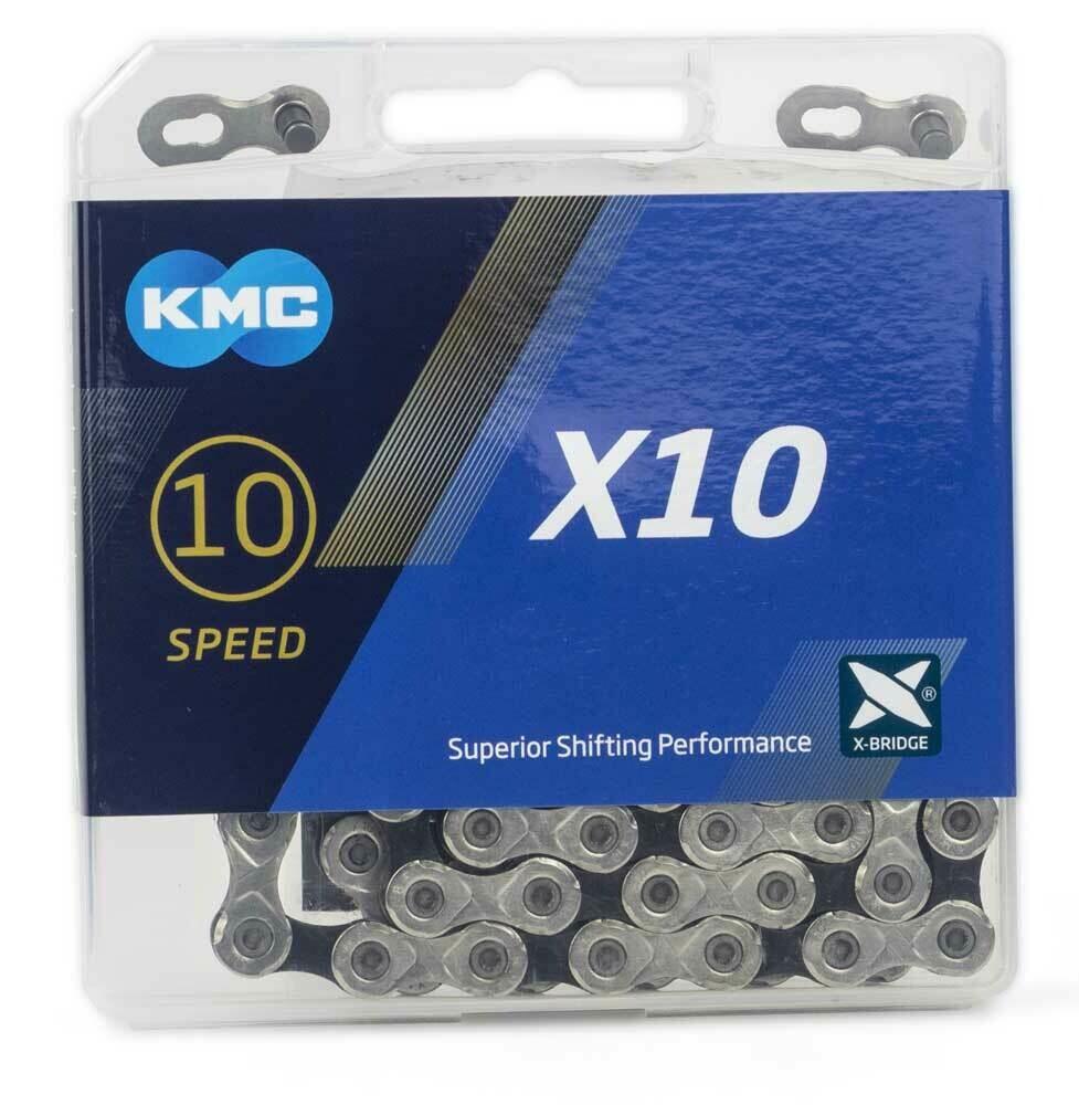Ketting KMC X10 10V 11/128 Zilver/Zwart 114 Sch.