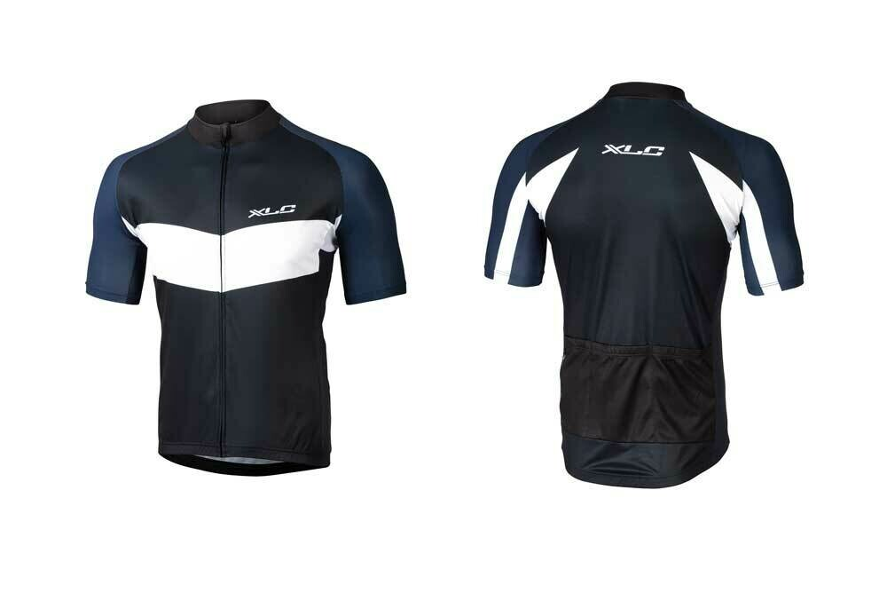 Shirt XLC Basic Korte Mouw Zwart/Blauw