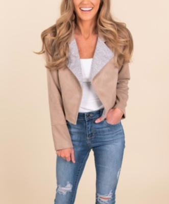 Toffee Sueded Jacket