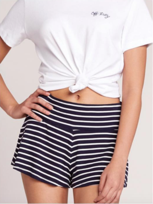 Navy Stripe Short