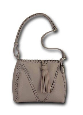 Taupe Woven Cross-Body