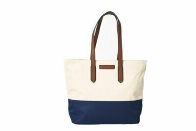 Tello & Rose Tote (Tan/Navy)