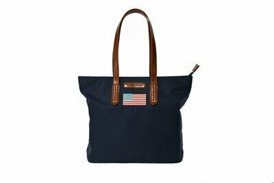 Tello & Rose Tote (Navy Flag)