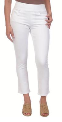White Pull-On Straight Leg