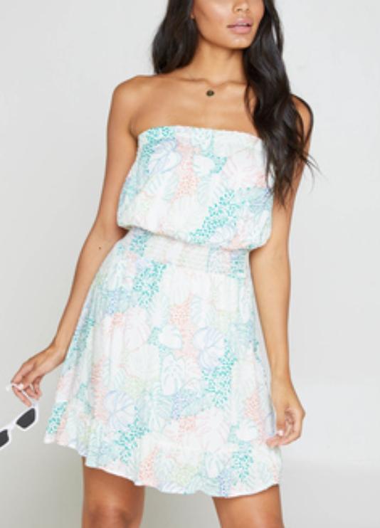 Palms Chiffon Dress