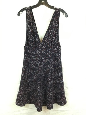 1120 forever 21 navu blue pink/white flecked tank dress wmns med NEW 050320