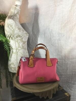 1267 DOONEY & BURKE pink/tan purse 050520