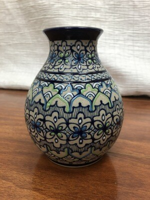 586 mexican vase grey blue green white 070720
